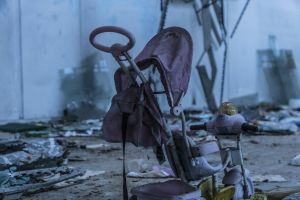 decay decaying buggy abandoned building abandoned urban pram urbex pushchair