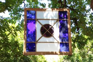 decor purple nature grow stained glass art tree background garden