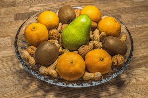 delicious walnut quiet fruit bowl food mandarin wood still life rustic still