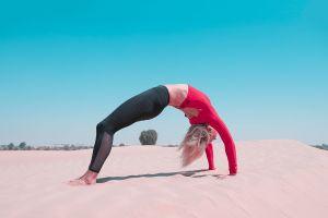 desert fitness model fitness yoga crossfit training fit