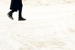 desert person sand boots wear man