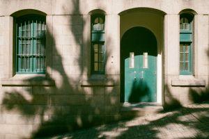 door architecture facade doorway entrance building street windows