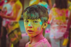 dust color childhood boy children child dusty colorful color splash