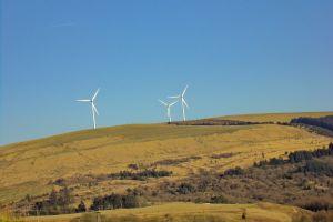 electricity wind renewable energy wales wind turbines energy production landscape eco scenery