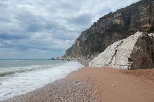 europe coast landscape nature town building mediterranean architecture bay mountain