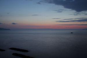 evening long exposure sunset sky sea