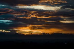 evening sky dark sky sunset scenic landscape sunrise dawn nature clouds
