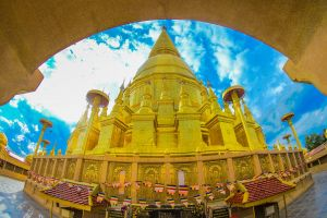 exterior temple building structure golden gold beautiful architecture grand art