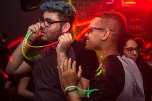 eyewear music spotlight crowd party people glow lights concert nightclub