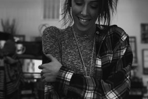 facial expression beautiful black and white wear lady fashion smiling girl young pretty