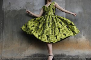female fashion person floral hands wall model photoshoot posture style