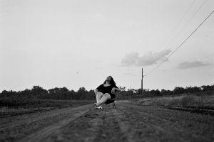 field cropland adult woman landscape girl
