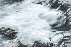 flow stream moss waterfalls mossy rocks nature time-lapse rocks cascade water