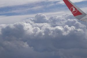 flying flight clouds plane cloud airplane