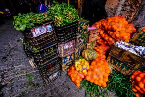 fruits sale stall food color fresh pumpkin stocks marketplace boxes