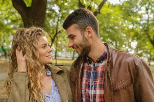 fun happiness flirting people togetherness woman couple love man