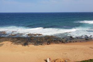 fun waves summer holiday blue sky sand sea rocks beach ocean
