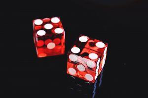 game play red casino cubes inside close-up design symbol illustration