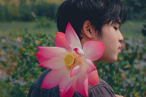 garden flower blurred background flora man petals daytime park blooming