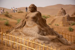 gobi desert sculpture china sand sculptures sand