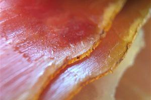 ham prosciutto ham close up meat rind food
