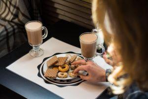 hand coffee food