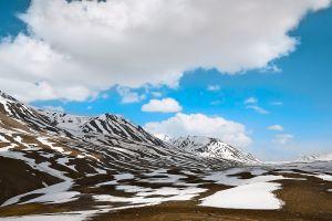 hike ice blue sky scenic high nature snow glacier himalaya beautiful