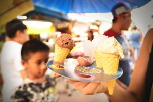 ice cream food mini cute thailand market