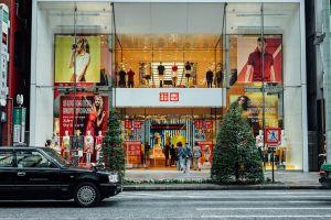 japan fashion uniqlo tokyo fast fashion shopping ginza city storefront retail
