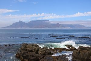 landmark cape town south africa ocean clouds table mountain nature mountain blue sky wonders