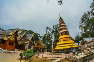 landmark grand culture famous outdoor gold chiangmai architecture buddha temple
