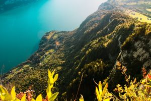 landscape scenery world green colours idyllic daylight blue lagoon switzerland alps