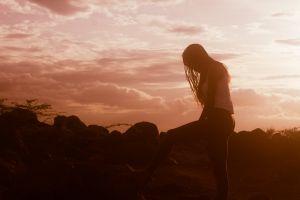landscape sunset hill dust silohoutte kenya nature lodwar