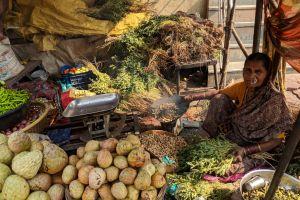 market sell sale food woman merchant baskets person marketplace vegetables