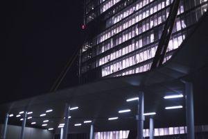 metropolitan area architecture. city urban architectural design night metropolitan