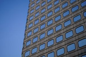 minimalism architect tall close-up windows glass blue minimalist commercial architectural