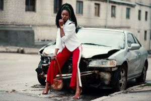 minimalistic transportation system feminine photoshoot broken girl beautiful urban car model city
