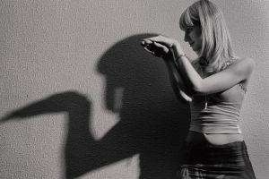model side view girl woman fashion shadow portrait person facial expression wear