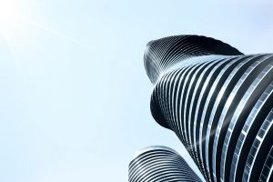 modern architecture shape bright architecture modern architectural building modern building curves perspective