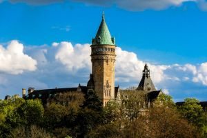 moments luxembourg forest history trees castle clouds landscape sun architecture