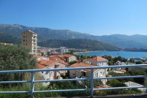 montenegro mediterranean architecture summer town building mountain sea beautiful sky
