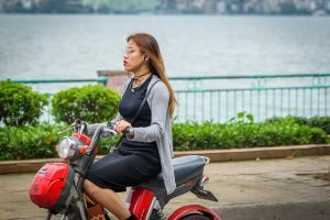 motorbike female woman motorcycle girl person