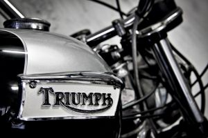 motorcycle badge vehicle motorbike triumph black and white