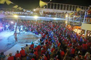 nature cruise crowd party shine fun superhero lights jive hands