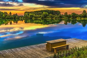 nature evening water romantic landscape rest water reflection beautiful mood evening sky