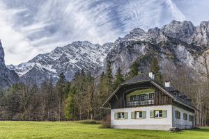 nature saint bartholom㤠trees berchtesgaden scale mountains hike rest house old house bavaria