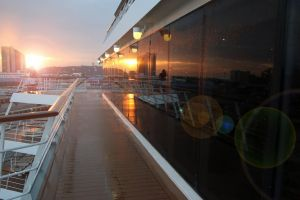nature sunrise cruise harbour ocean reflection deck south africa durban dock