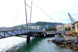 new zealand sea crane park city park sky cloudy sky ocean bridge anchor
