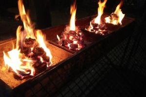 night light fire bbq