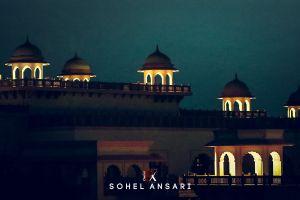 night lights night sohel ansari light blue sky good hotel haweli